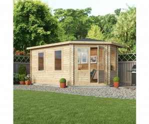 Mercia 5m x 3m Corner Lodge Grande Log Cabin - Right Handed