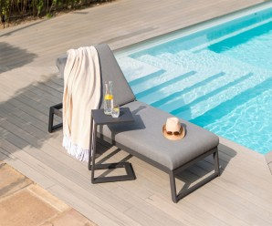 Maze Allure Outdoor Fabric Sun Lounger