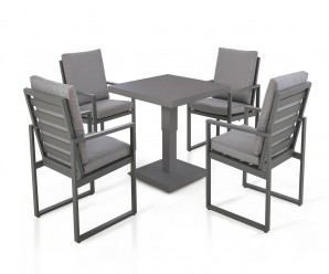 Maze Rattan Amalfi 4 Square Garden Dining Set With Rising Table