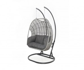 Maze Rattan Ascot Double Hanging Chair - Aside Picture