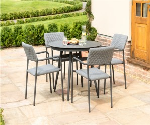 Maze Bliss 4 Seat Round Garden Furniture Set