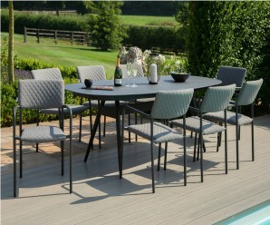 Maze Bliss 8 Seat Oval Dining Set