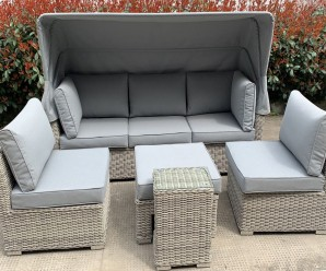 Cambridge Deluxe Canopy Deluxe 3 seat Sofa & Armless Chairs