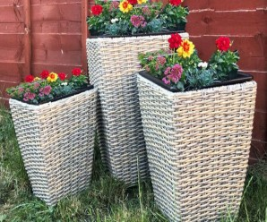 Maze Rattan Cotswold Shaped Trio Planters Set