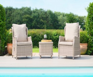 Cotswolds Reclining 2 Seat Lounge Set - Maze Rattan