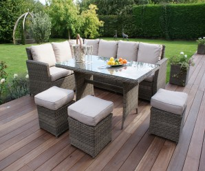 Maze Rattan - Winchester Kingston Corner Sofa Dining Set - Image 1