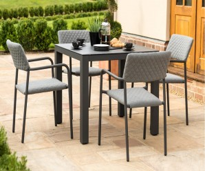 Maze Bliss 4 Seat Square all Weather Fabric Dining Set