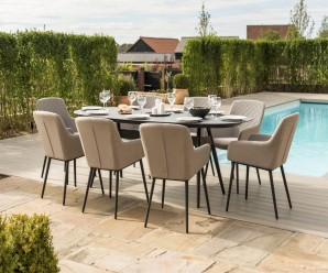Maze Zest 8 Seater Oval Outdoor Fabric Dining Set