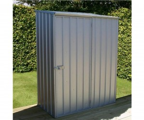 Mercia 5x2ft Compact Metal Garden Shed Titanium