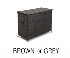 Maze Rattan - Large Storage Box In Grey Colour - Image 1