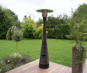 Maze Rattan - Gas Patio Heater-Brown