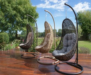 Malibu Hanging Pod Chair 3 colours available - Maze Rattan