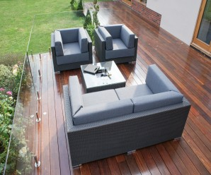Maze Rattan Monaco Deep Seating Sofa Set with Ice Bucket image 3