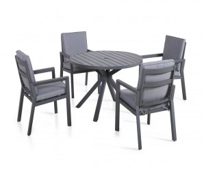 Maze Rattan New York 4 Seat Round Dining Set