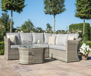 Oxford Large Corner Sofa Set With Fire Pit - Maze Rattan