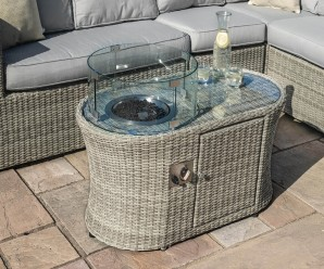 Maze Rattan Oxford Oval Fire Pit Coffee Table