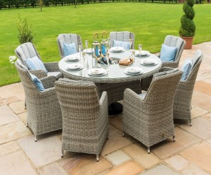 Oxford 8 Seater Round Ice Bucket Dining Set With a parasol hole - image 7