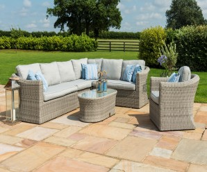 Maze Rattan Oxford Large Corner Group Sofa Set - Image 1