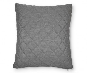 Outdoor fabric range matching scatter cushion - Quilted side (flanelle grey)