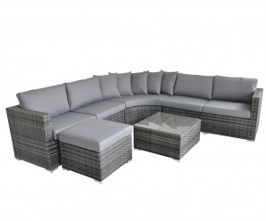 Maze Rattan Valencia 5 Piece Corner Sofa Set With Coffee Table - Image 3