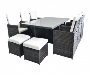 Rattan Fairy-Seville 6 Seat Deluxe Cube Set with Footstools