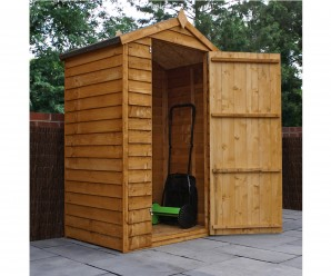 Mercia 3x4ft Overlap Apex Windowless Garden Shed