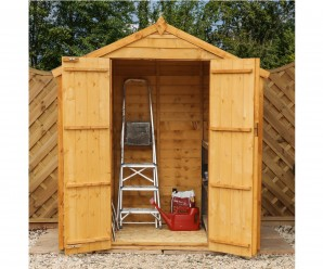 Mercia 4x6ft Overlap Apex Secure Wooden Garden Shed