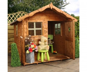 Mercia Tulip 5x5ft Wooden Playhouse In Natural Colour