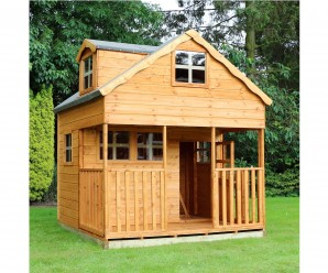 Mercia Double Storey Wooden Playhouse with Dorma Window