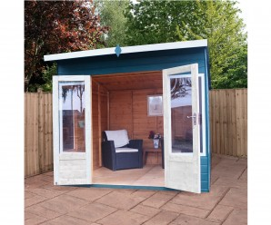 Mercia Helios Curved Wooden Summerhouse 8ft x 8ft