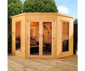 Mercia 8ft x 8ft WoodenCorner Summerhouse