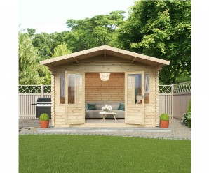 Mercia 4m x 4m Haven Office Log Cabin