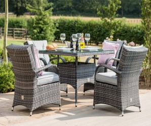 Maze Rattan Texas 4 Seat Square Garden Furniture Set