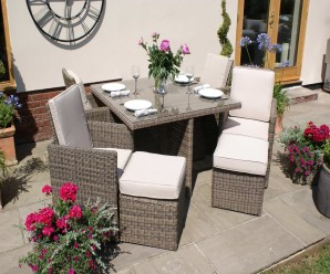 Winchester 5 Piece Cube Set with 4 Footstools