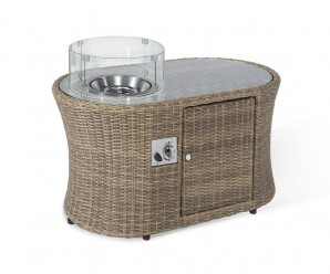 Maze Rattan Winchester Oval Fire Pit Coffee Table