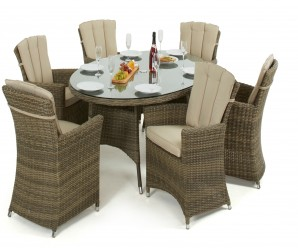 outdoor oval dining set with 6 carver chairs