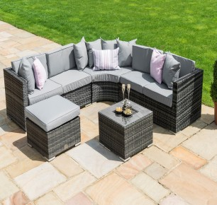 Maze Rattan Barcelona Garden Corner Sofa with a Luxury Inset Ice Bucket Coffee Table + FREE COVER
