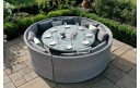 Maze Rattan Ascot Moon Garden Sofa Dining Set With Rising Table