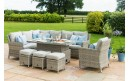 Maze Rattan Oxford Casual Corner Rising Table Dining Set With Ice Bucket & Armchair
