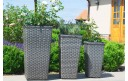 Maze Rattan Victoria Tall Trio Planter Set