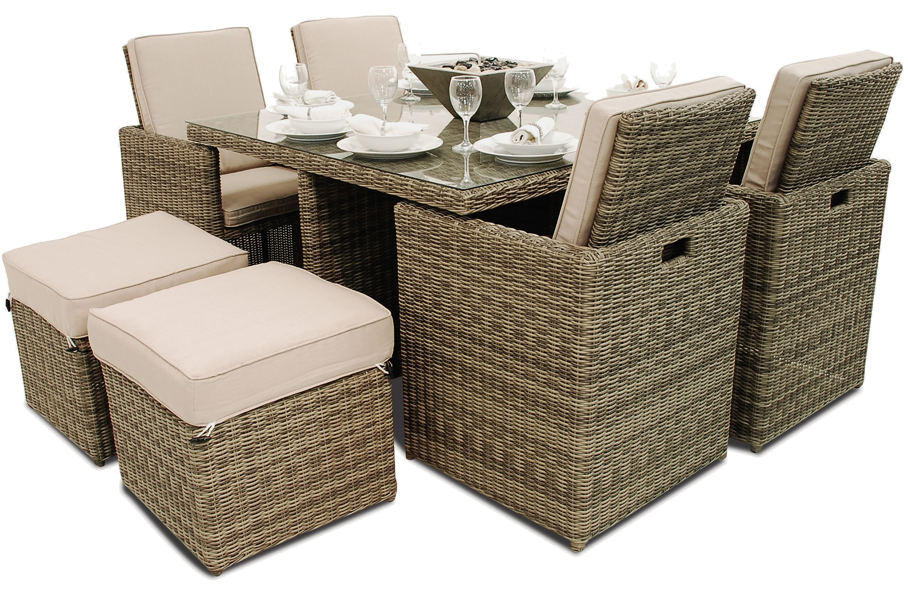 Maze Rattan Winchester 5 Piece Garden Furniture Cube Set