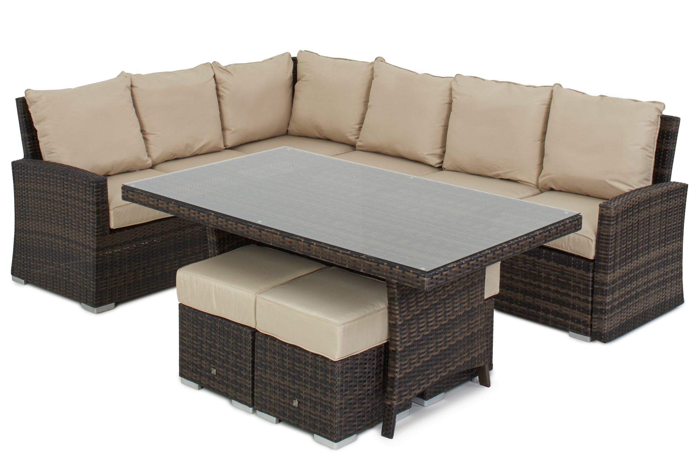 Maze Rattan Kingston garden Sofa Dining set | Rattan Furniture Fairy