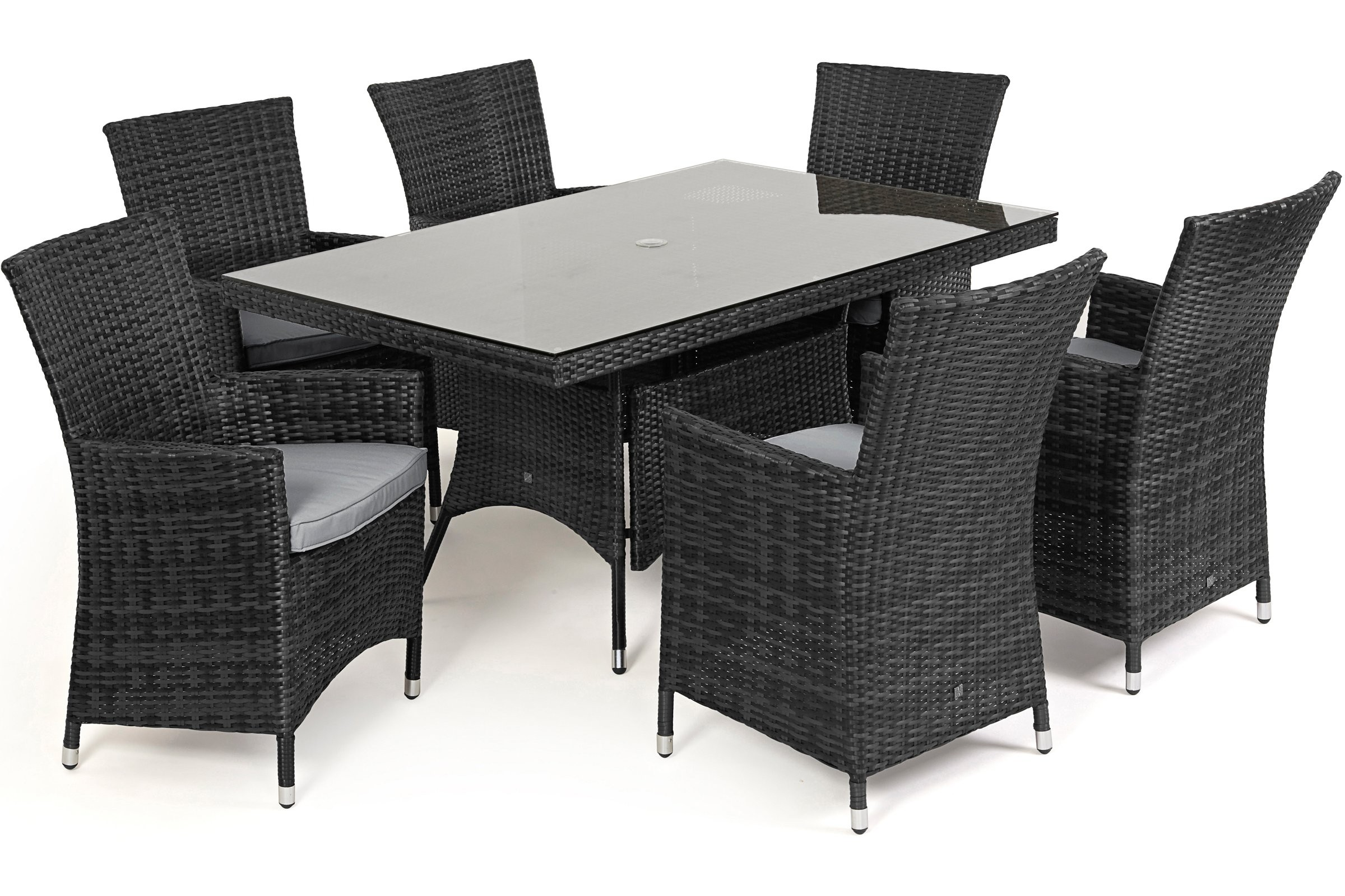 Maze Rattan La 6 Seat Rattan Rectangular Rattan Furniture Set