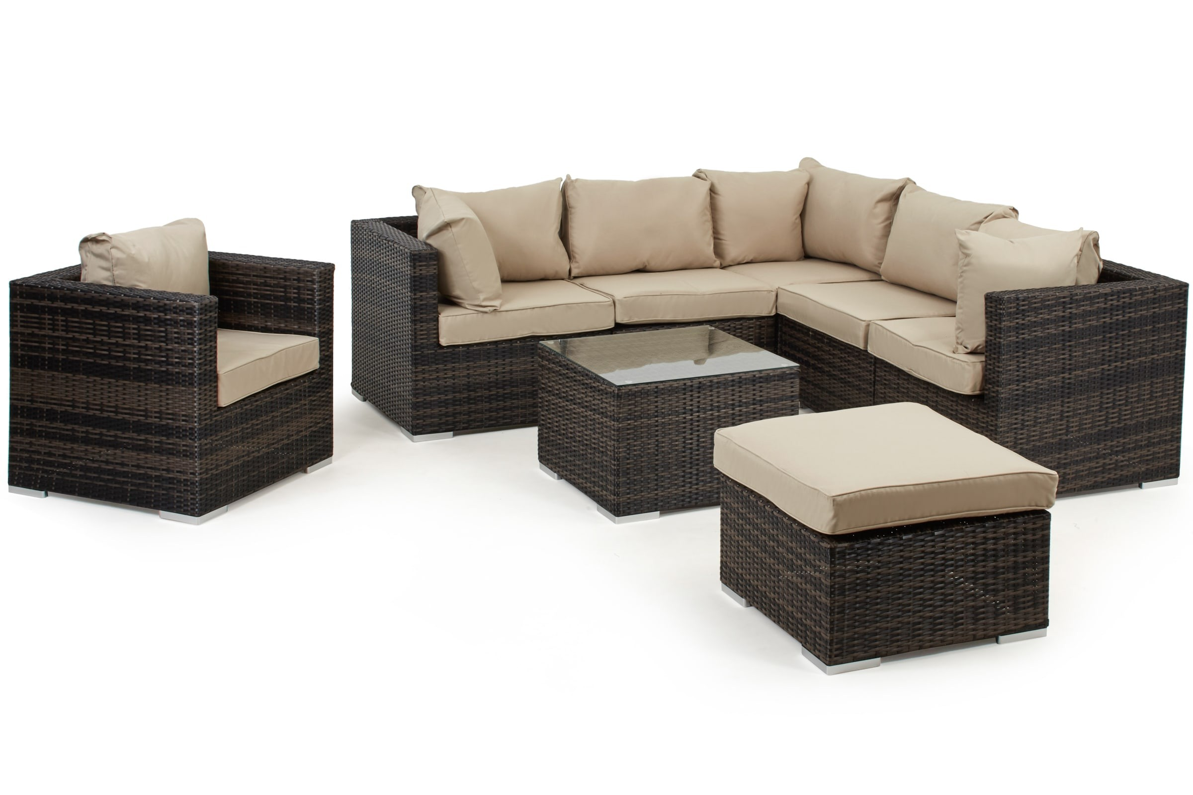 Maze Rattan London Corner Group With Armchair