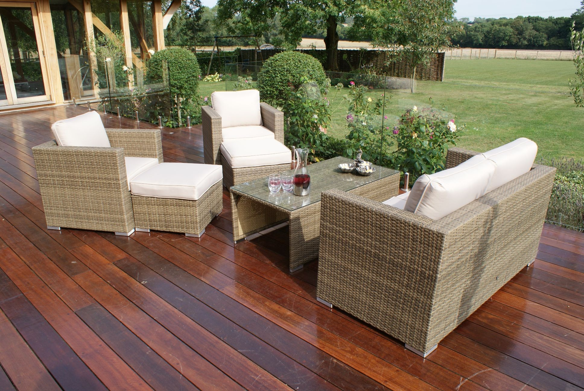 Maze Rattan Tuscany 2 and 3 Seat Garden Sofa Set