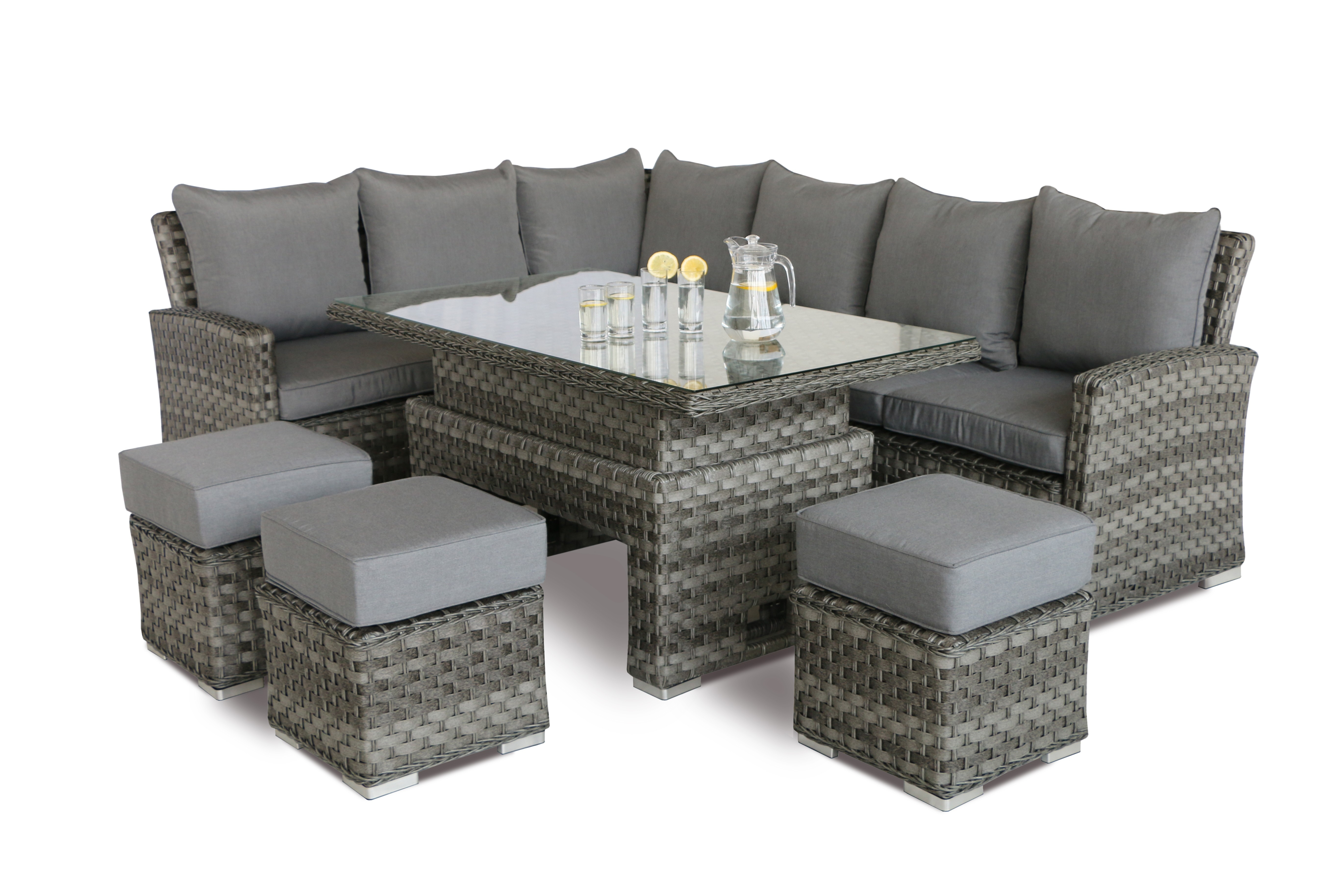 maze rattan victoria corner dining set rising table. Black Bedroom Furniture Sets. Home Design Ideas