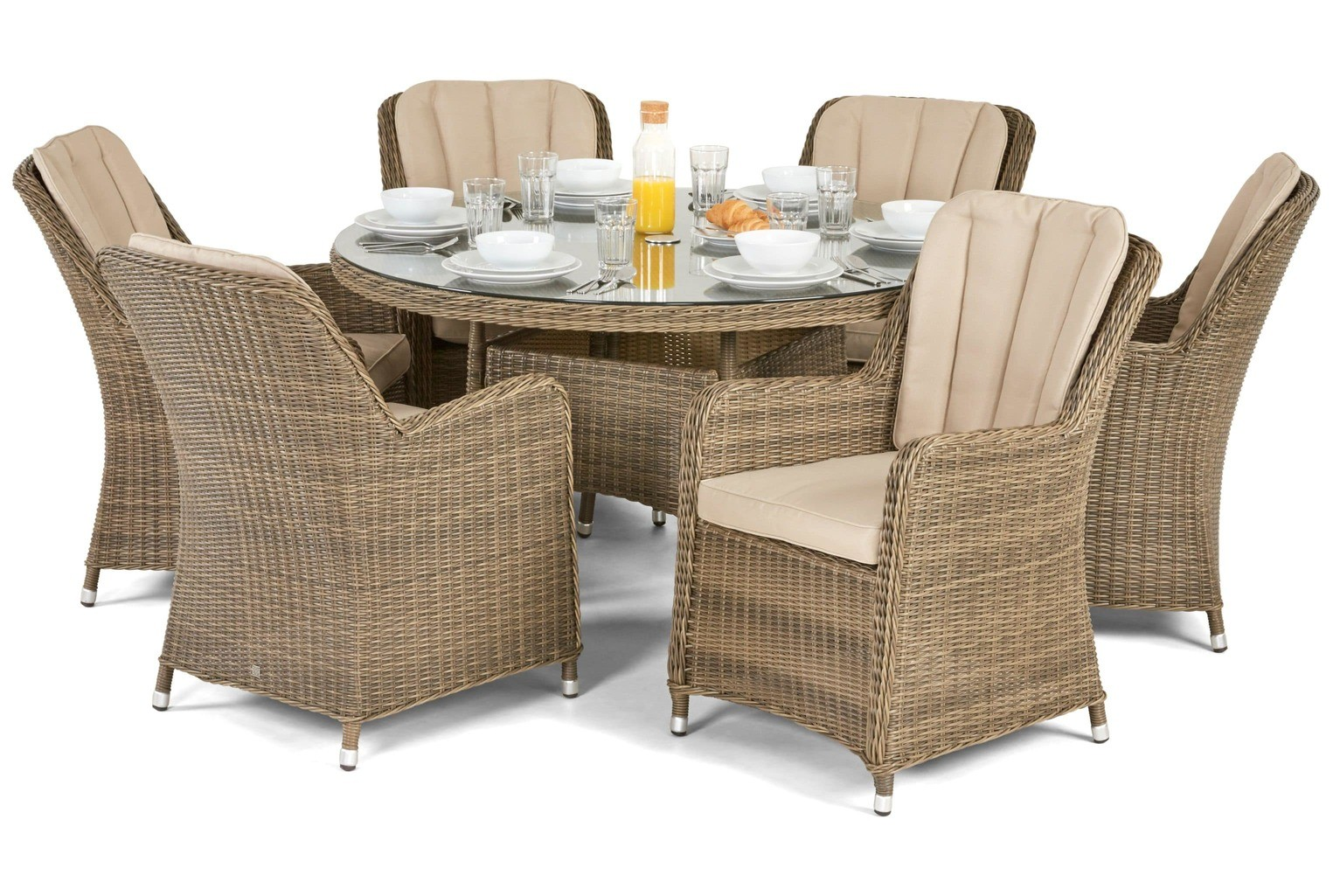 Maze Rattan Winchester Venice 6 Seater Garden Furniture Set