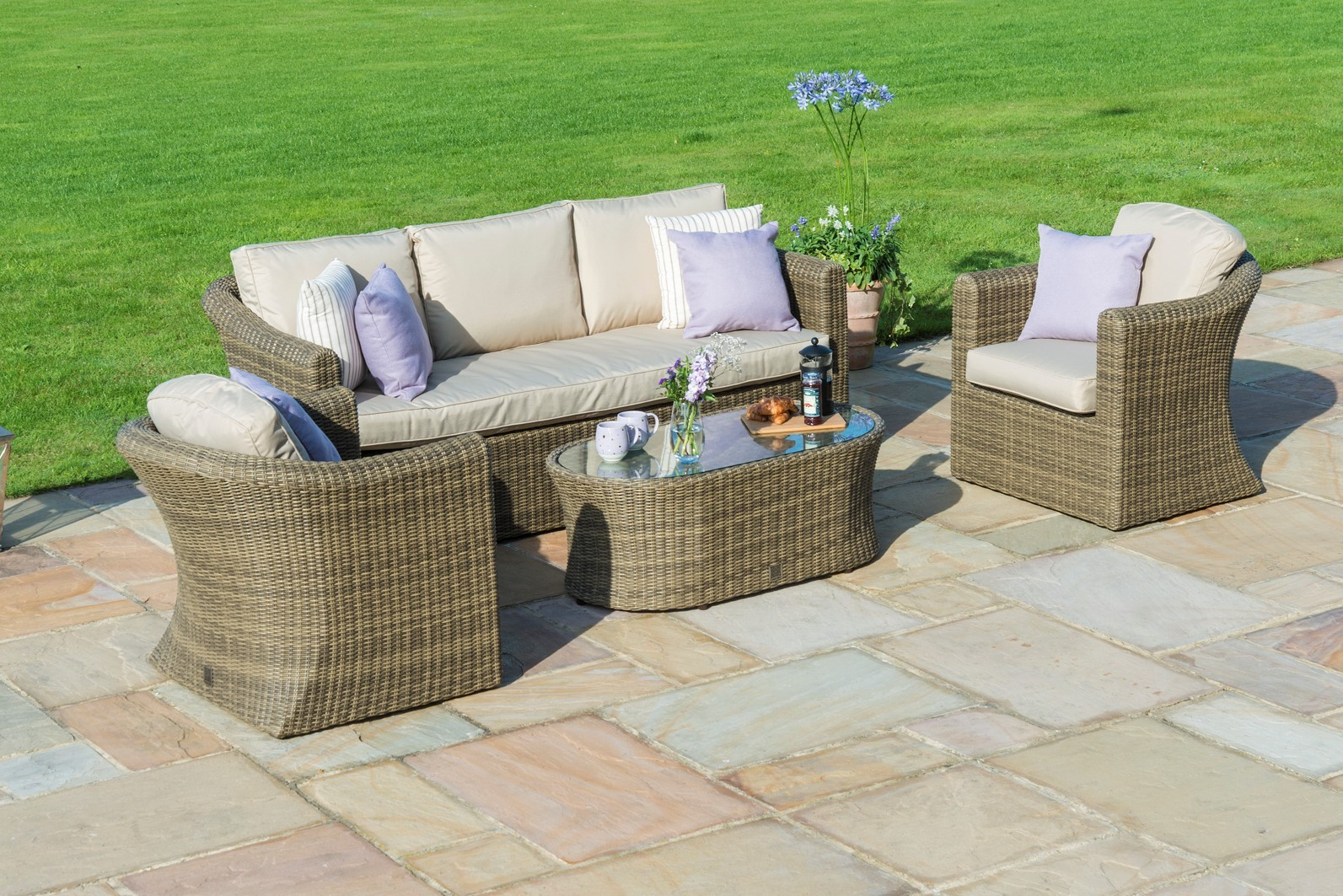 Maze Rattan Winchester 2 and 3 seat Garden Sofa Set