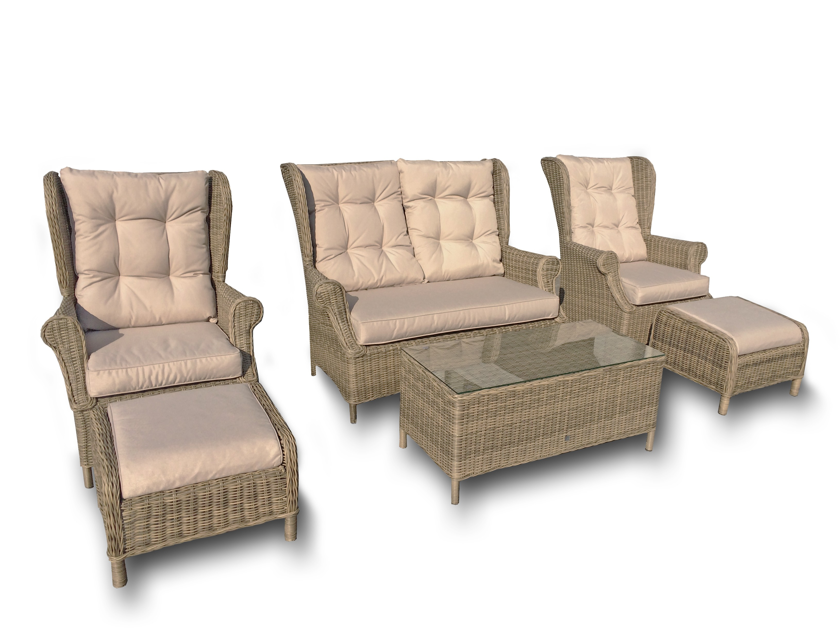 Maze Rattan Winchester 6 Piece High Back Patio Furniture Set