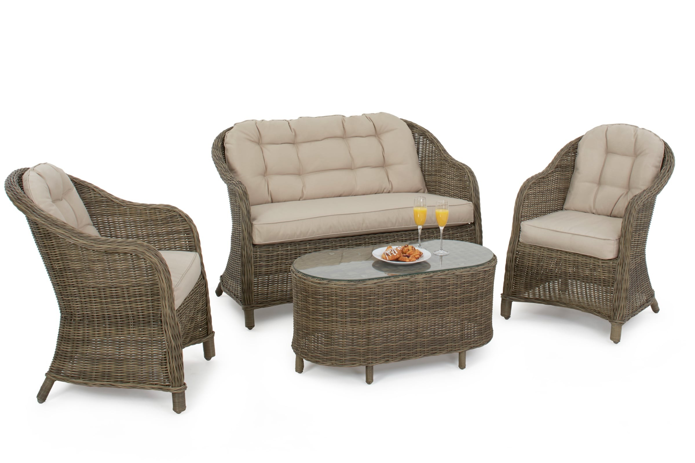 maze rattan winchester round high back sofa set outdoor furniture set. Black Bedroom Furniture Sets. Home Design Ideas